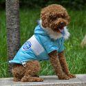 Hundejacke mit Aufnäher  - blau, M