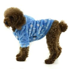 Hundejacke - blau mit Kapuze, XL