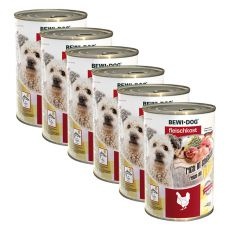 New BEWI DOG Nassfutter – Chicken - 6 x 400g, 5+1 GRATIS