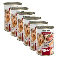 New BEWI DOG Nassfutter – Geflügel - 6 x 400g, 5+1 GRATIS
