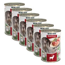New BEWI DOG Nassfutter – Wild - 6 x 400g, 5+1 GRATIS