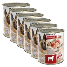 New BEWI DOG Nassfutter– Lamm - 6 x 800g, 5+1 GRATIS