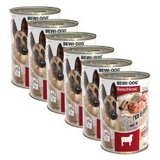 New BEWI DOG Nassfutter – Lamm - 6 x 400g, 5+1 GRATIS