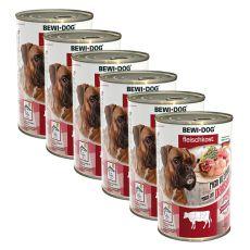 New BEWI DOG Nassfutter – Rindpansen - 6 x 400g, 5+1 GRATIS