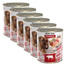 New BEWI DOG Nassfutter – Rinderpansen - 6 x 800g, 5+1 GRATIS