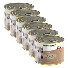 BEWI DOG Pâté - Lamm - 6 x 200g, 5+1 GRATIS