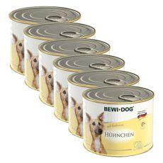 Bewi dog Paté - Huhn - 6 x 200g, 5+1 GRATIS