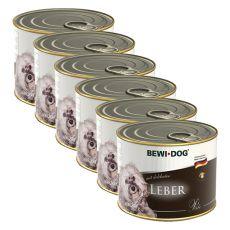 Bewi dog Pâté - Leber - 6 x 200g, 5+1 GRATIS