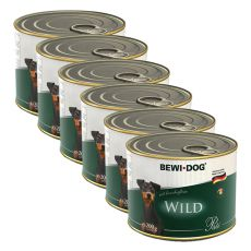 Bewi dog Pâté – Wild - 6 x 200g, 5+1 GRATIS