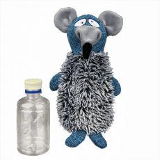 Spielzeug Ratte Plüch/Stoff mit Kunststoffflasche - 21 cm