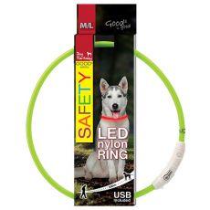 Halsband Dog Fantasy LED nylon - grün, 65cm