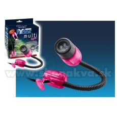 Hydor MULTI-LIGHT, LED weißes Licht - pinker Deckel