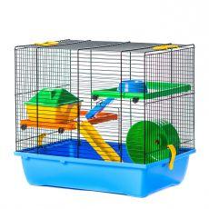 Hamsterkäfig GINO I color + Ausstattung - 42 x 29 x 38 cm