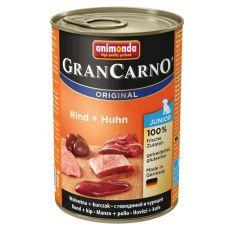 Feuchtfutter GranCarno Original Junior Rind und Huhn - 400g