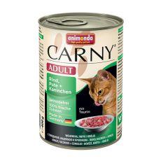 Feuchtfutter CARNY ADULT mit Rind, Pute und Kaninchen - 400 g