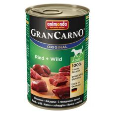 Nassfutter GranCarno Original Adult Rind und Wild - 400g