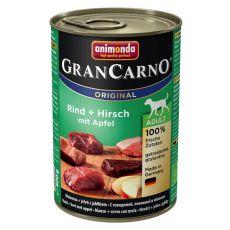 Nassfutter GranCarno Original Adult Rind + Hirsch mit Äpfeln - 400g