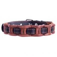 Lederhalsband - 29 - 35cm, 14mm - schwarz/braun