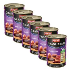 Nassfutter GranCarno Original Adult Rind + Lamm - 6 x 400g