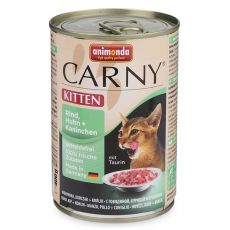 Nassfutter CARNY KITTEN Rind, Huhn und Kaninchen 400 g