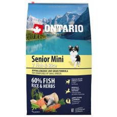 ONTARIO Senior Mini 7 Fish & Rice 6,5kg
