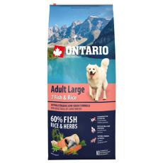 ONTARIO Adult Large 7 Fish & Rice 12kg