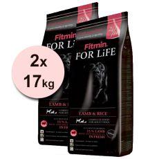 Fitmin FOR LIFE Adult Lamb & Rice 2 x 17kg - PORTOFREI