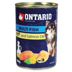 Feuchtnahrung ONTARIO Multi Fish und Lachsöl – 400g