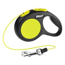 Flexi Führleine Neon XS bis 8kg  - 3m Seil-Leine