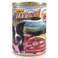 Feuchtnahrung PRINCE Premium – Rind mit Papaya, Karotten und Spinat 400g