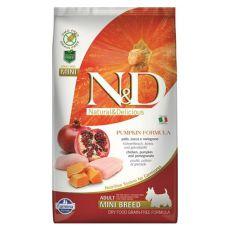 Farmina N&D dog GF PUMPKIN adult mini, chicken & pomegranate - 7kg