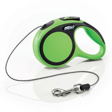 Flexi NEW COMFORT Führleine XS bis 8kg, 3m Seil - grün