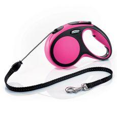 Flexi NEW COMFORT Seil-Leine M bis 20kg, 5m Seil - pink