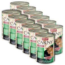 Feuchtfutter CARNY ADULT mit Rind, Pute und Kaninchen - 12 x 400g