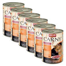 Futter CARNY ADULT Rindfleisch + Hühnerfleisch - 6 x 400 g