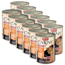 Futter CARNY ADULT Rindfleisch + Hühnerfleisch - 12 x 400 g