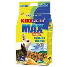 KIKI EXCELLENT MAX MENU - Futter für Zwergkaninchen 4kg