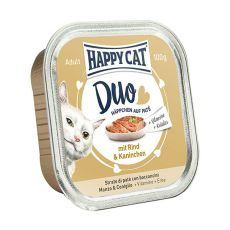 Happy Cat DUO MENU - Rind und Kaninchen, 100g