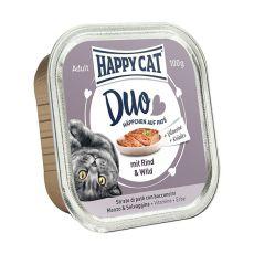 Happy Cat DUO MENU - Rind und Wild, 100g