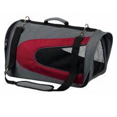 Tasche für Hund und Katze ALINA, rot/grau - 27 x 27 x 47 cm