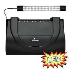 Aquarienabdeckung mit Leuchte 40x25cm LED EXPERT 6W - SCHWARZ eckig
