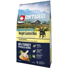 ONTARIO Weight Control Mini - turkey & potatoes 6,5kg