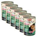 Feuchtnahrung CARNY ADULT Rind, Reh und Preiselbeeren - 6 x 400 g