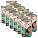 Feuchtnahrung CARNY ADULT Rind, Reh und Preiselbeeren - 12 x 400 g