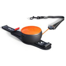 Lishinu NEON handsfree Leine bis 30kg, 3m - orange