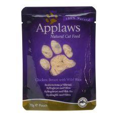Feuchtnahrung APPLAWS Cat, Huhn und Wildreis 70g