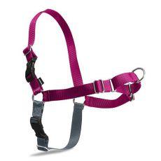 Geschirr gegen Ziehen EasyWalk Harness mit leine - L, pink