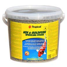 TROPICAL Koi & Goldfish spirulina sticks - 11L /900g