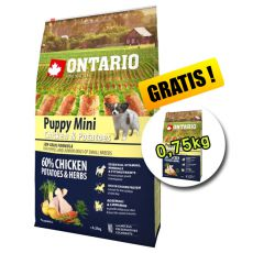 ONTARIO Puppy Mini - chicken and potatoes 6,5kg + 0,75kg