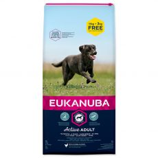 EUKANUBA ADULT Large Breed Chicken 15kg + 3kg GRATIS